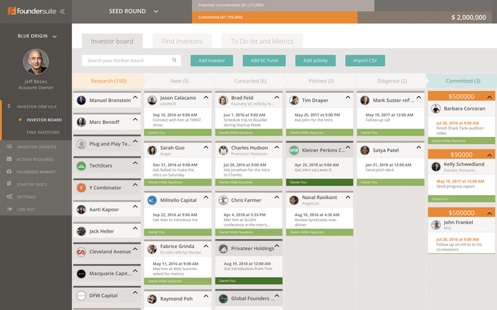 Foundersuite Investor CRM